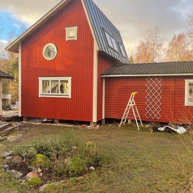 tillbyggnad och renovering av fritidshus på gräskö